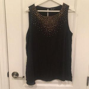 Tops - Lily Morgan Black top with rose gold detail